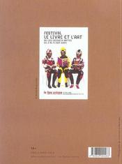 Le livre et l'art - 4ème de couverture - Format classique