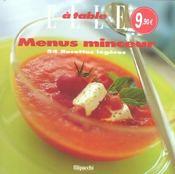 Les Menus Mnceur - Intérieur - Format classique