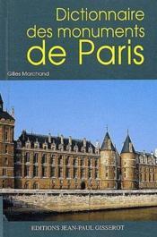 Dictionnaire des monuments de Paris - Couverture - Format classique