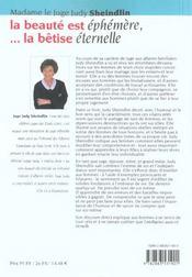 La Beaute Est Ephemere ; La Betise Eternelle - 4ème de couverture - Format classique