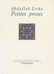 Petites proses - Couverture - Format classique