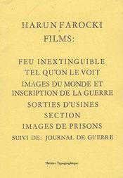 Films (feu inextinguible, images du monde, tel qu'on le voit, etc.) - Couverture - Format classique