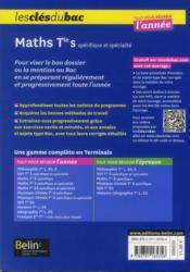 Les Cles Du Bac ; Tout Pour Réussir L'Année ; Mathématiques ; Terminale S ; Enseignement Spécifique Et De Spécialité - 4ème de couverture - Format classique