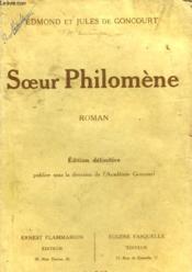 Soeur Philomene. - Couverture - Format classique