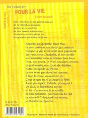 On S'Etait Dit, Pour La Vie - 4ème de couverture - Format classique