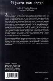 Tijuana mon amour - 4ème de couverture - Format classique