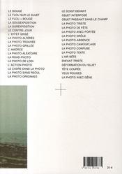 Manuel de la photo ratée - 4ème de couverture - Format classique