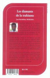 Les Diamants De La Trahison - 4ème de couverture - Format classique