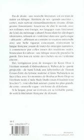 Nouvelles Voix D'Afrique - 4ème de couverture - Format classique