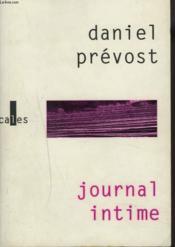 Journal intime t1 - Couverture - Format classique