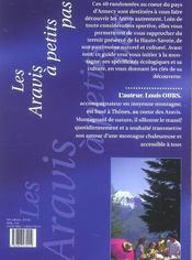 Les aravis à petits pas ; 40 randonnées entre lac et montagne - 4ème de couverture - Format classique