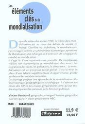 La Mondialisation - 4ème de couverture - Format classique