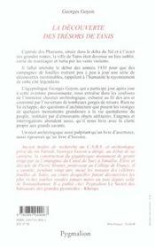 La Decouverte Des Tresors De Tanis - 4ème de couverture - Format classique