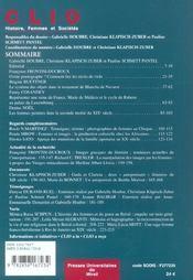 Femmes Et Images Revue Clio N19 - 4ème de couverture - Format classique