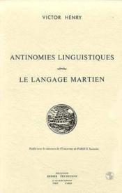 Antinomies linguistiques. le langage mar - Couverture - Format classique