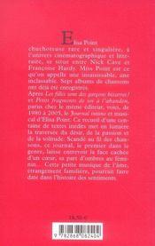 Journal intime d'un coeur (1980-2005) - 4ème de couverture - Format classique