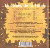 Les sons de la terre ; la naissance des percussions - 4ème de couverture - Format classique