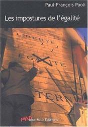 Les Impostures De L'Egalite - Couverture - Format classique