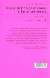 Douze histoires d'amour à faire soi-même - 4ème de couverture - Format classique