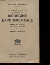 Introduction A L'Etude De La Medecine Experimentale - Premiere Partie - Couverture - Format classique
