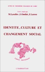 Identité, culture et changement social - Couverture - Format classique