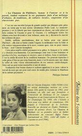 La Chanson De Philibert Ou Les Gens Simples - 4ème de couverture - Format classique
