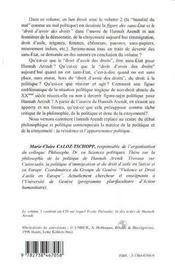 Hannah Arendt t.1 ; les sans-état et le droit d'avoir des droits - 4ème de couverture - Format classique