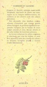 Sorbiers Et Alisiers - 4ème de couverture - Format classique