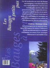 Les Bauges à petits pas - 4ème de couverture - Format classique