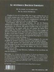Le mystérieux docteur Cornélius t.15 et t.16 - 4ème de couverture - Format classique