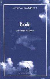 Paradis (un temps à déplier) - Couverture - Format classique