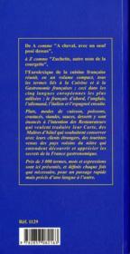 Eurolexique de la cuisine francaise francais anglais allemand italien espagnol - 4ème de couverture - Format classique