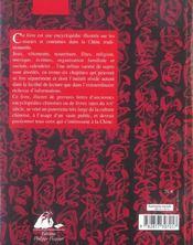 Chine culture et traditions - 4ème de couverture - Format classique