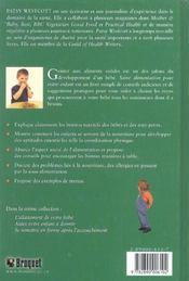 Saine alimentation pour votre enfant - 4ème de couverture - Format classique