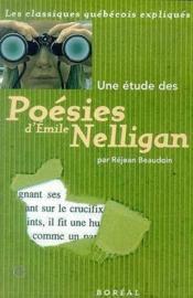 Une Etude Des Poesies D'Emile Nelligan - Couverture - Format classique