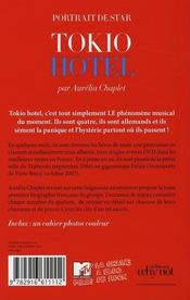 Tokio Hotel - 4ème de couverture - Format classique