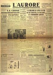 Aurore (L') N°518 du 17/04/1946 - Couverture - Format classique