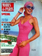 Modes De Paris N°1326 du 04/06/1974 - Couverture - Format classique