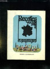 Recettes Et Paysages. Sud Est Et Mediterranee. - Couverture - Format classique