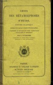 Choix Des Metamorphoses. - Couverture - Format classique