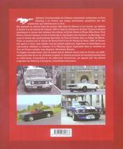 Mustang, Une Americaine En France - 4ème de couverture - Format classique