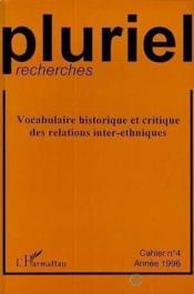 Pluriel Recherches 4 Vocabulaire Historique Et C - Couverture - Format classique
