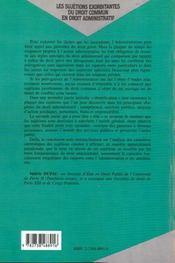 Les Sujetions Exorbitantes Du Droit Commun En Droit Administratif ; L'Administration Sous La Contrainte - 4ème de couverture - Format classique