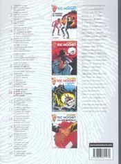 Ric Hochet ; intégrale t.11 - 4ème de couverture - Format classique