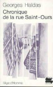 Chronique De La Rue Saint-Ours - Couverture - Format classique