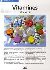 Petit Guide T.214 ; Vitamines Et Santé - Intérieur - Format classique