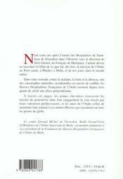 Les guerres hospitalieres de l'ordre de malte - 4ème de couverture - Format classique