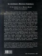Le mystérieux docteur Cornélius t.17 et t.18 - 4ème de couverture - Format classique