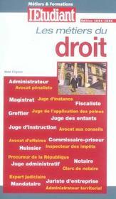 Les métiers et formations du droit - Intérieur - Format classique