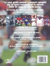 Encyclopedie Mondiale Du Football - 4ème de couverture - Format classique